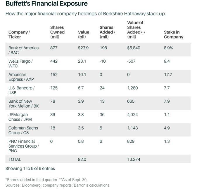 Buffett's financial exposure