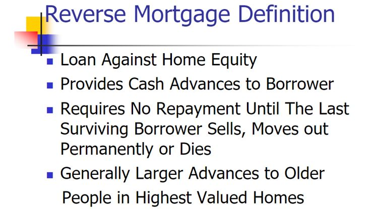 reverse mortgage definition