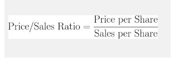 price/sales ratio